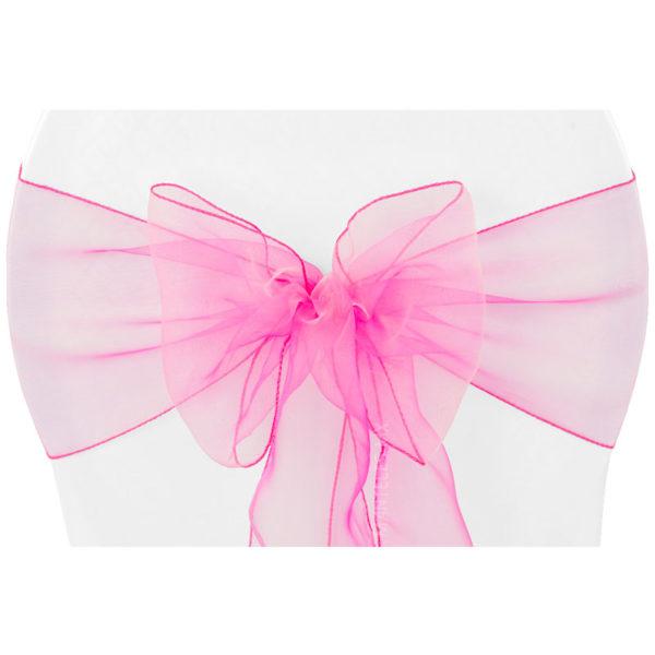 lazo organza rosa