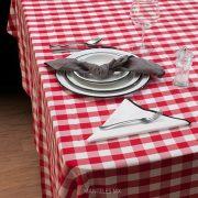 picnic rojo mantel